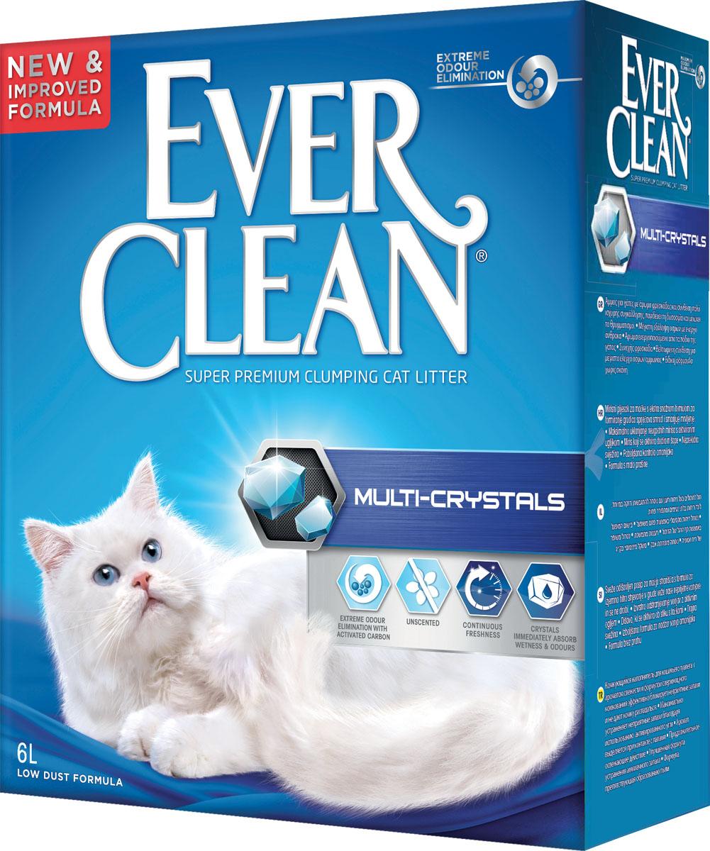 Наполнитель для кошачьего туалета Ever Clean Multi-Crystals, комкующийся, с кристаллами, 6 л0120710Наполнитель Ever Clean Multi-Crystals - это элитная серия высококачественных комкующихся наполнителей с уникальными свойствами. Наполнитель состоит из специально обработанной и очищенной от пыли глины. Содержит синие и зеленые кристаллы, совместно воздействующие на неприятные запахи и немедленно блокирующие их, что обеспечивает максимальный контроль над запахом. Гранулы наполнителя обладают уникальными впитывающими свойствами и содержат активный компонент, который уничтожает запах, связанный с развитием микробов. В ядро каждой гранулы помещен специальным образом обработанный активированный уголь для максимального контроля запахов. Гранулы наполнителя не только отлично впитывают, но и образуют крепкие трудноразбиваемые комки. Состав: глина, активированный уголь. Без ароматизаторов.Вес: 6 кг.Товар сертифицирован.