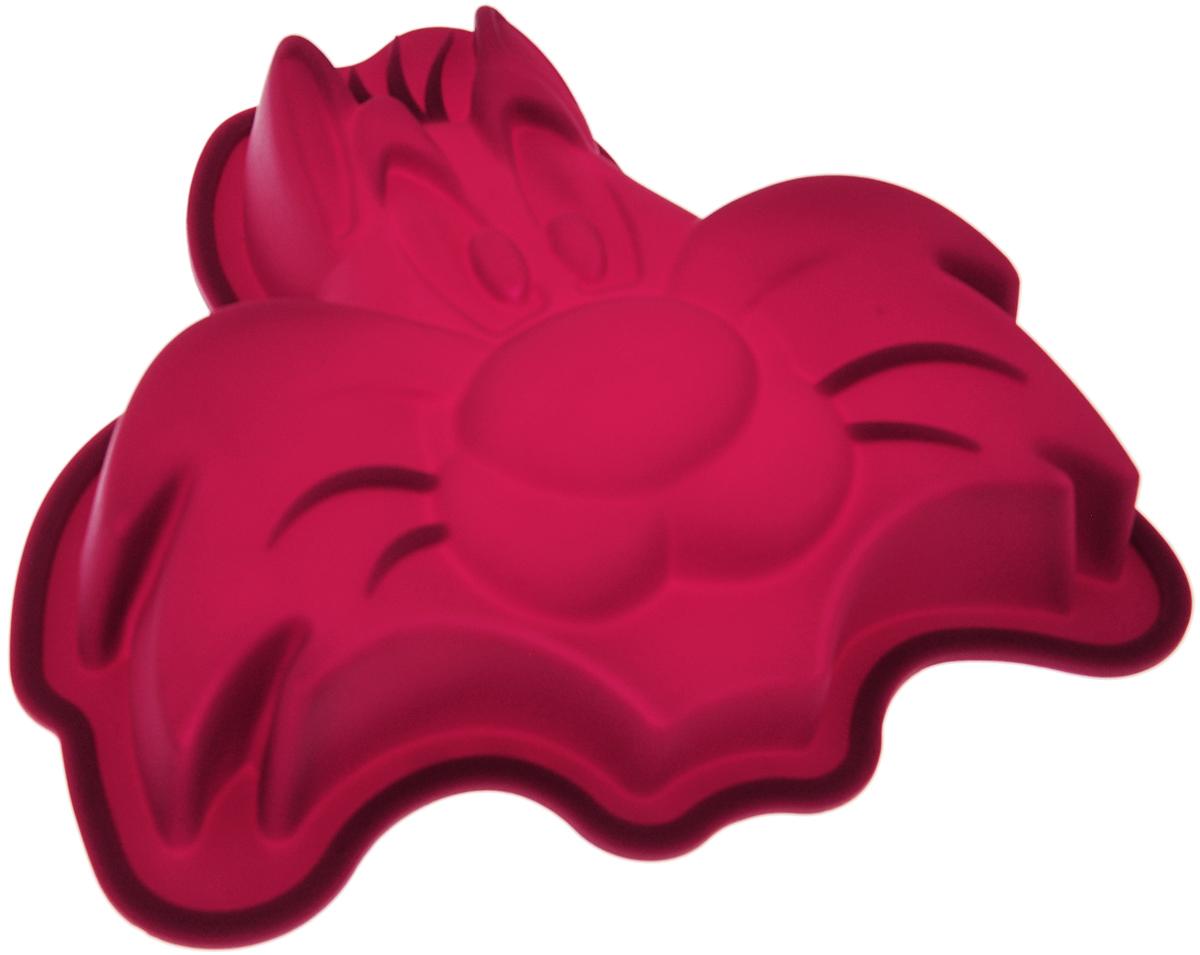 Форма для выпечки Hausmann Cat, силиконовая, цвет: бордовый, 16,5 х 15,5 х 3,2 смBK-S055-1Форма для выпечки Hausmann Cat изготовлена из высококачественного силикона. Стенки формы легко гнутся, что позволяет легко достать готовую выпечку и сохранить аккуратный внешний вид блюда. Силикон - материал, который выдерживает температуру от -40°С до +230°С. Изделия из силикона очень удобны в использовании: пища в них не пригорает и не прилипает к стенкам, форма легко моется. Приготовленное блюдо можно с легкостью вытащить, просто перевернув форму, при этом внешний вид блюда не нарушится. Изделие обладает эластичными свойствами: складывается без изломов, восстанавливает свою первоначальную форму. Порадуйте своих родных и близких любимой выпечкой в необычном исполнении. Подходит для приготовления в микроволновой печи и духовом шкафу при нагревании до +230°С; для замораживания до -40°. Можно мыть в посудомоечной машине с применением нейтральных моющих средств.