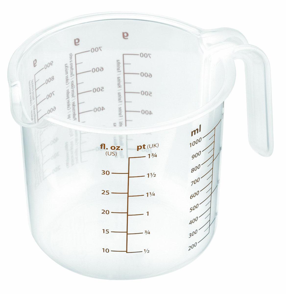 Емкость мерная Tescoma Delicia, 1 л630408Мерная емкость Tescoma Delicia выполнена из прозрачного пластика и оснащена удобной ручкой и носиком для слива жидкости. На стенке кружки имеются отдельные мерные шкалы. Такая емкость пригодится на каждой кухне, ведь зачастую приготовление некоторых блюд требует известной точности. Диаметр емкости (по верхнему краю): 12 см. Высота емкости: 12 см.