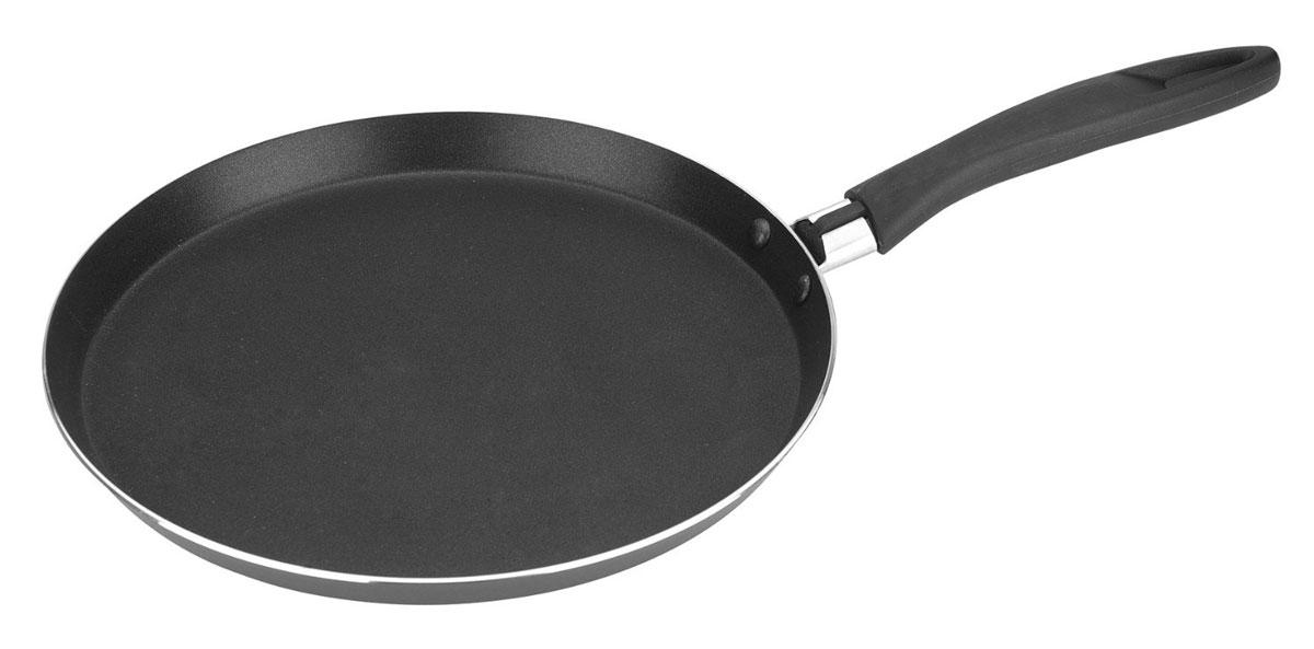 Сковорода для блинов Tescoma Presto, с антипригарным покрытием. Диаметр 22 см594222Сковорода Tescoma Presto изготовлена из нержавеющей стали с качественным антипригарным покрытием, которое препятствует пригоранию. Отличные антипригарные свойства покрытия позволяют готовить практически без масла, что делает ваши блюда менее жирными и калорийными. Идеально плоская поверхность с низкой кромкой подходит для приготовления блинчиков и яичницы. Эргономичная ручка изготовлена из прочного пластика. Подходит для электрических и газовых видов плит, кроме индукционных. Диаметр сковороды: 22 см.