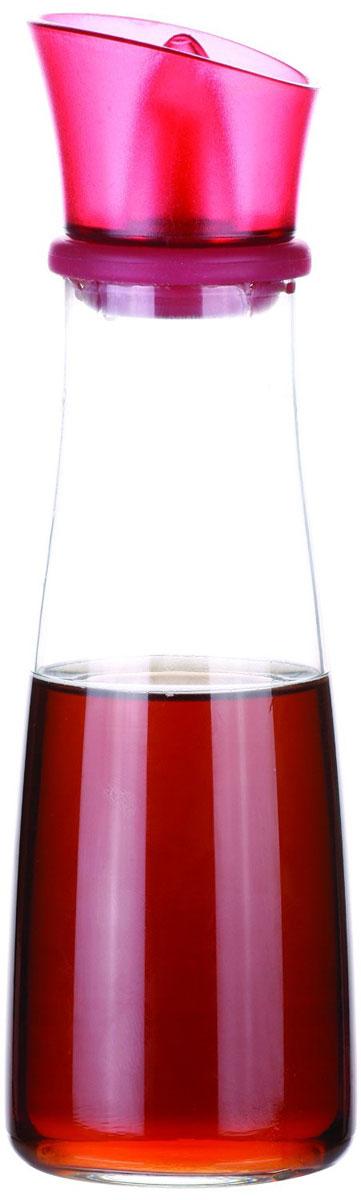 Емкость для масла и уксуса Tescoma Vitamino, цвет: фуксия, прозрачный, 250 мл642774Емкость для масла Tescoma Vitamino, выполненная из высококачественного боросиликатного стекла, позволит украсить любую кухню. Она внесет разнообразие как в строгий классический стиль, так и в современный кухонный интерьер. Легка в использовании, стоит только перевернуть, и вы с легкостью сможете добавить масло. Изделие оснащено воронкой из силикона и крышкой из прочной пластмассы. Оригинальная емкость будет отлично смотреться на вашей кухне. Изделие пригодно для мытья в посудомоечной машине. Высота емкости (с учетом крышки): 20 см.