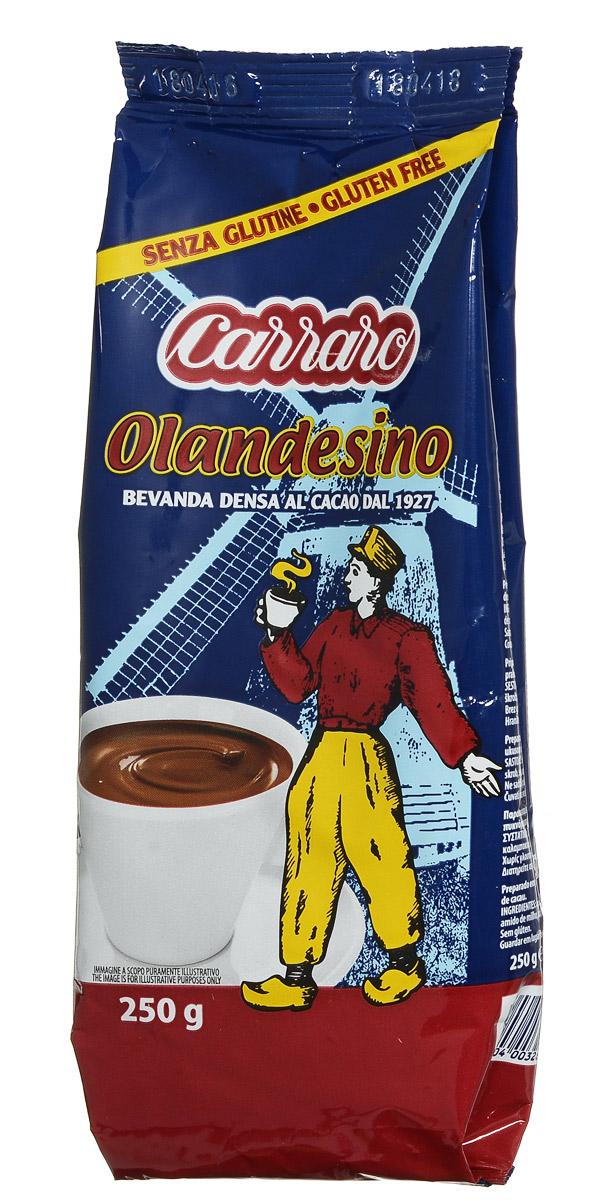 Carraro Olandesino растворимый шоколад, 250 г8000604003263Carraro Olandesino – это горячий быстрорастворимый шоколад, цветочный вкус которого ни с чем не перепутать. Чашка горячего шоколада – прекрасное наслаждение, особенно в холодную пору.