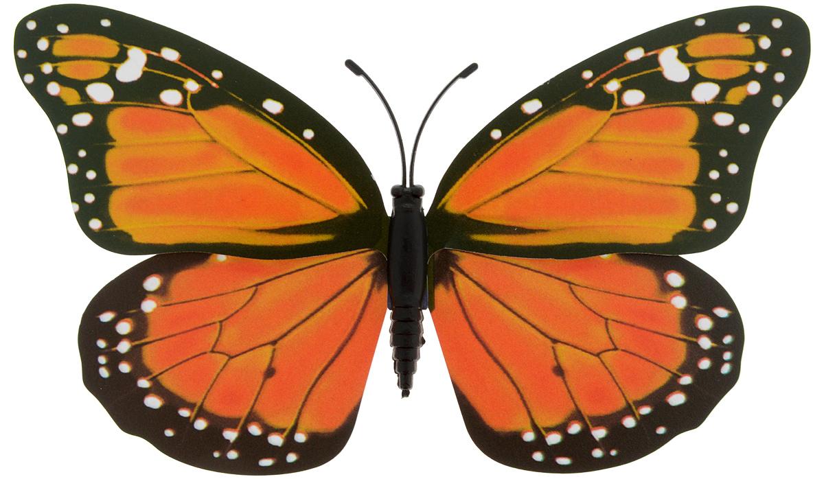 Декоративное украшение Village people Тропическая бабочка, с магнитом, цвет: черный, оранжевый (11), 12 х 8 см68610_11Декоративная фигурка Village People Тропическая бабочка, изготовленная из ПВХ и магнита, это не только красивое украшение, но и замечательный способ отпугнуть птиц с грядок. Изделие выполнено в виде бабочки и оснащено магнитом, с помощью которого вы сможете поместить изделие в любом удобном для вас месте. Яркий дизайн изделия оживит ландшафт сада.