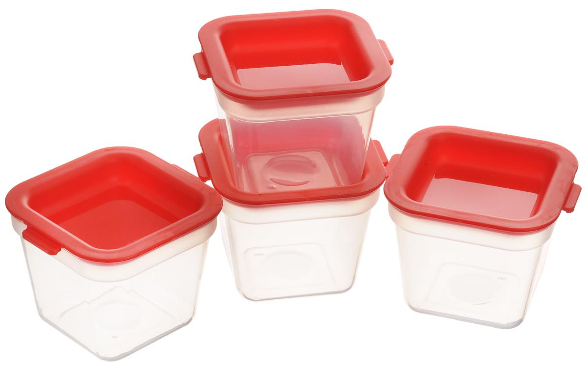 Мини-контейнер для заморозки Tescoma Purity, цвет: красный, прозрачный, 120 мл, 4 шт891872Набор Tescoma Purity, выполненный из высококачественного пищевого пластика, состоит из четырех мини-контейнеров с плотно закрывающимися цветными крышками. Изделия отлично подходят для хранения продуктов в морозильной камере или холодильнике. Контейнеры удобно складываются друг в друга, что экономит пространство при хранении в шкафу. Пригодны для морозильников, холодильников, микроволновых печей. При использовании в микроволновой печи всегда оставляйте крышку приоткрытой. Можно мыть в посудомоечной машине. Объем контейнера: 120 л. Размер контейнера (без учета крышки): 7 х 7 х 5,5 см.