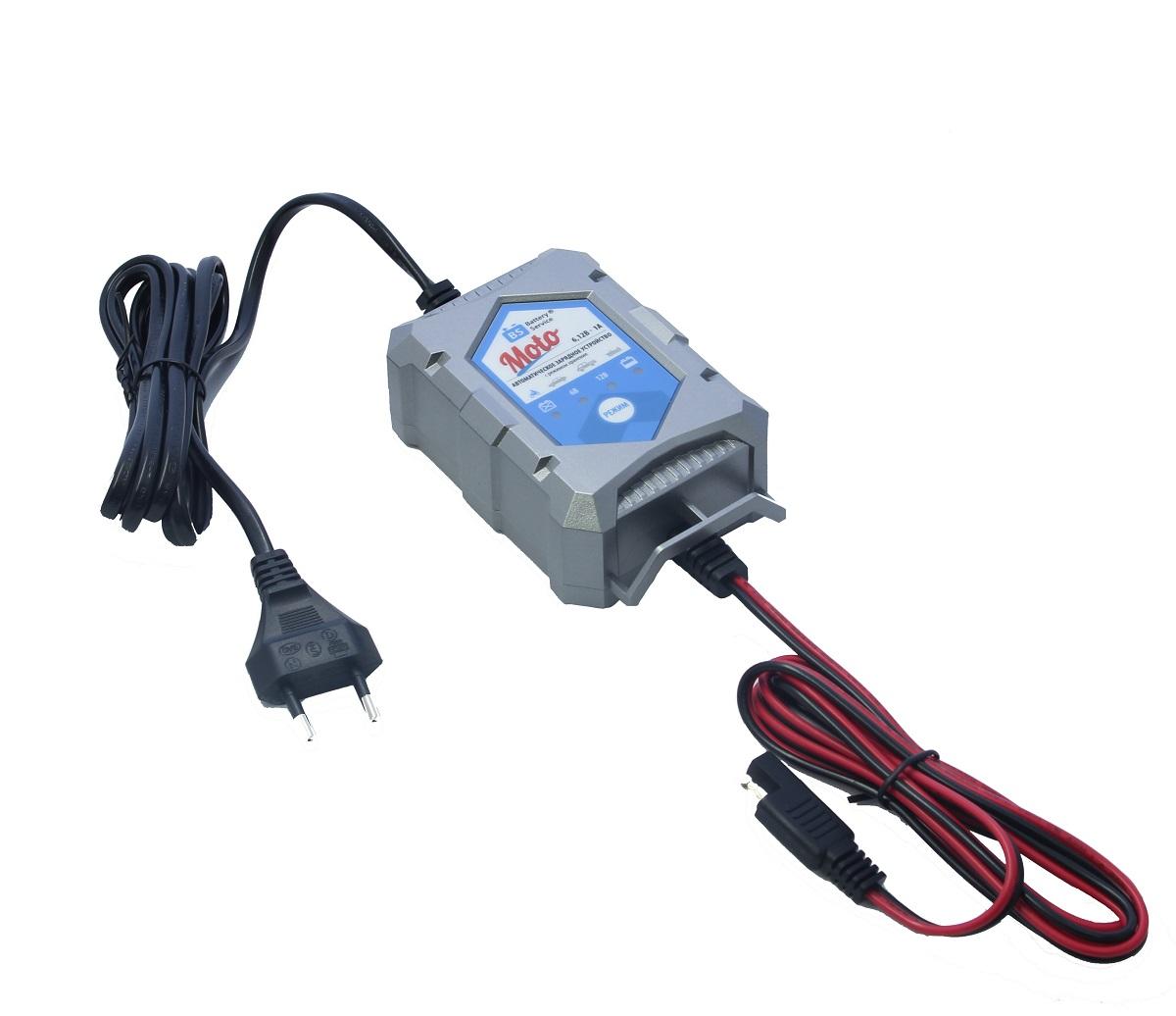 Зарядное устройство Battery Service Moto. PL-C001PPL-C001PМногоступенчатое зарядное устройство Battery Service Moto с режимами восстановления глубокоразряженных аккумуляторных батарей, десульфатации и хранения. Интеллектуальное управление микропроцессором. Заряжает все типы 6В и 12В свинцово-кислотных аккумуляторных батарей, в т.ч. AGM, GEL. Защита от короткого замыкания, переполюсовки, перегрева. Гарантия 2 года. Пыле и влагозащищенный корпус IP65. Moto рекомендуется для АКБ от 1,2Ач до 24 Ач. Ток зарядки 1,0А. Восстановление АКБ разряженной до 4,5В. Температурный режим -20...+40С. В комплект устройства входят аксессуары - кольцевой разъем постоянного подключения и зажимы типа крокодил. Совместимо с аксессуарами сторонних производителей с разъемом SAE.