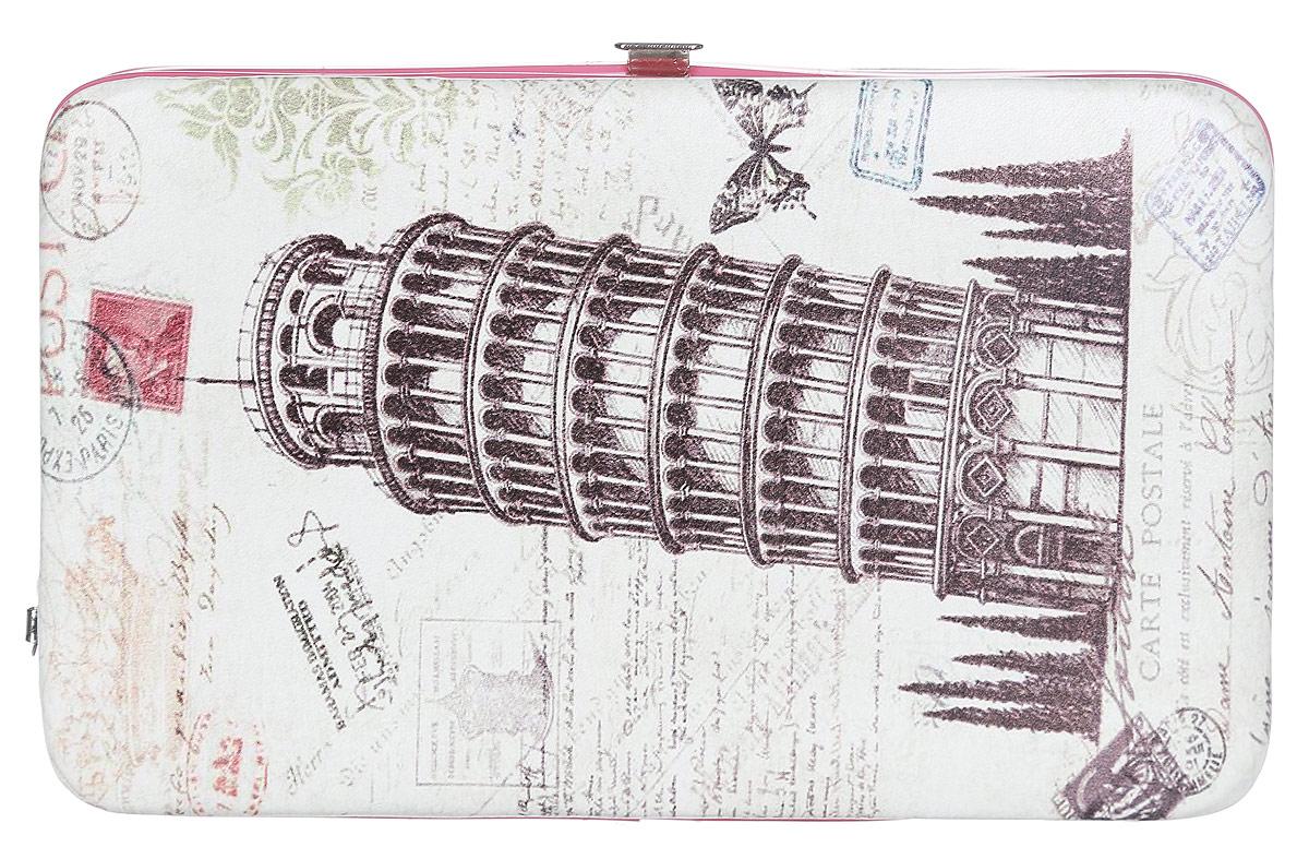 Кошелек женский Модные истории, цвет: бежевый, розовый. 3/0227/6023/0227/602Практичный кошелек Модные истории изготовлен из искусственной кожи, оформлен принтом с изображением пизанской башни. Изделие содержит одно отделение, закрывающееся на рамочный замок. Внутри расположены отделение для купюр, отделение с резинкой для фиксации банкнот и 5 кармашков для пластиковых карточек, один из которых с прозрачной вставкой. Кошелек дополнен съемной петлей для переноски на запястье. Практичный аксессуар вместит в себя все необходимое, позволит вам завершить образ и быть неотразимой.