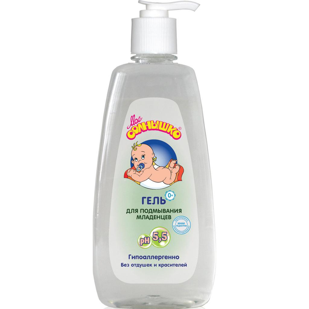 Мое солнышко Гель для подмывания младенцев 400 мл35550606Мягкий, гипоаллергенный состав без отдушек и красителей не сушит кожу и не раздражает слизистые. Сбалансированная pH- формула не нарушает естественный кислотно-щелочной баланс кожи, сохраняя ее защитные функции. Бережно очищает кожу и может применяться так часто, как это необходимо. Продукт рекомендован для применения у детей с первых дней жизни. Клинически проверено и рекомендовано ФГУ МНИИ Педиатрии и детской хирургии Минздрава России.