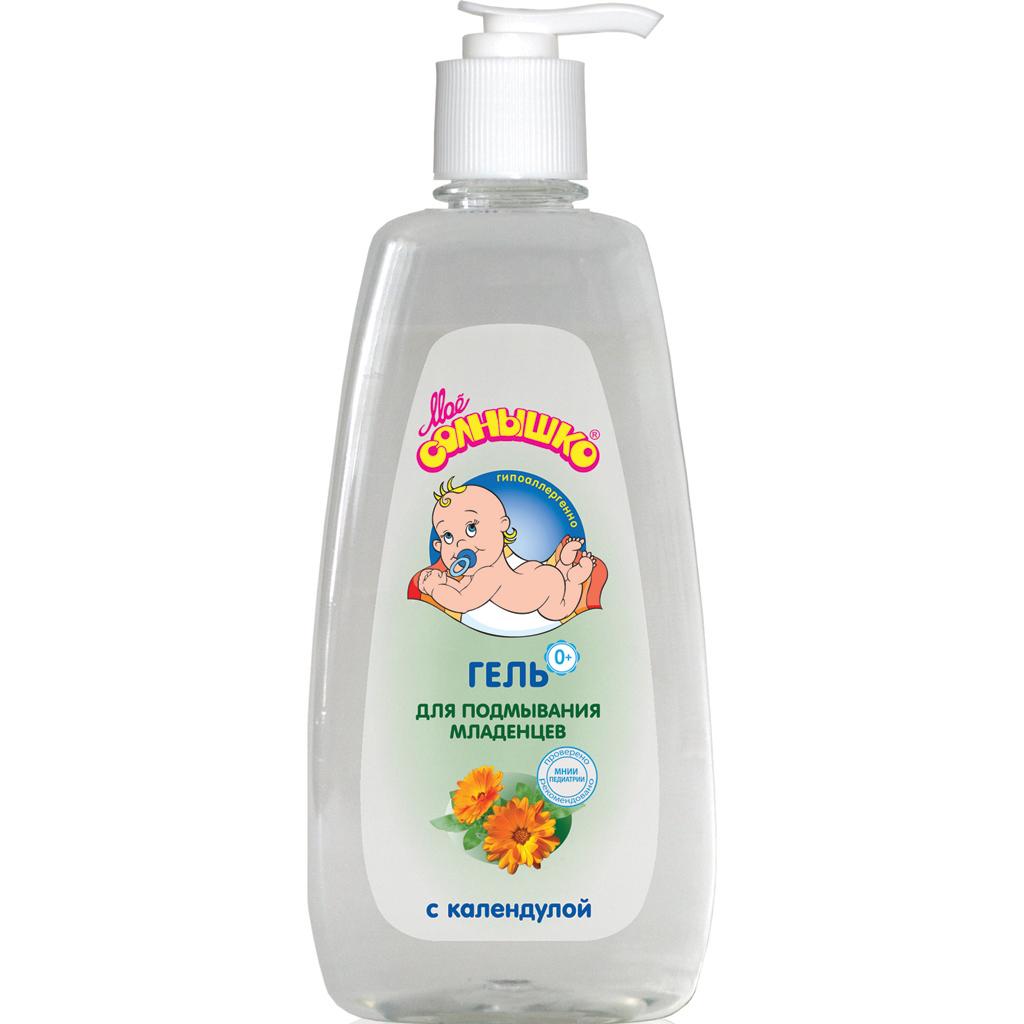 Мое солнышко Гель для подмывания младенцев с календулой 400 мл355506062Гель для подмывания младенцев с календулой идеально подходит для интимной гигиены малыша. Мягкая pH формула не сушит кожу и не раздражает слизистые, поэтому гелем можно пользоваться так часто, как это необходимо. Продукт рекомендован для применения у детей с первых дней жизни. Клинически проверено и рекомендовано ФГУ МНИИ Педиатрии и детской хирургии Минздрава России. Товар сертифицирован.