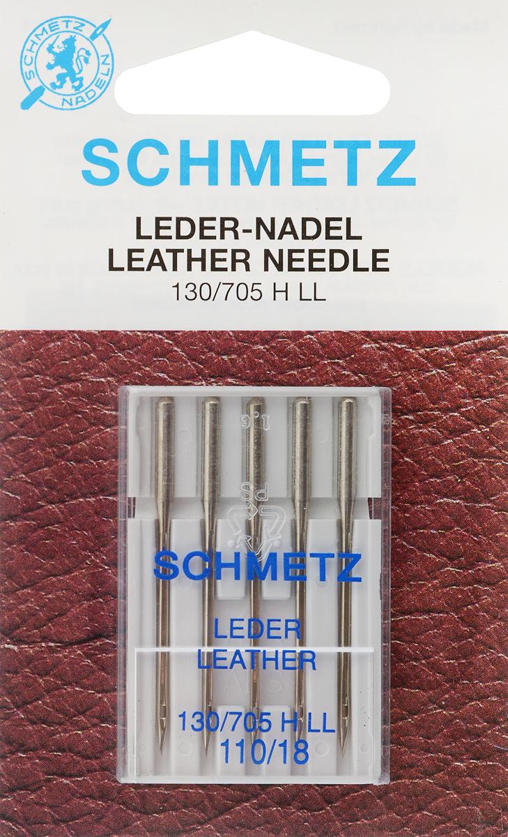 Иглы для бытовых швейных машин Schmetz, для кожи, №110, 5 шт22:15.AS2.VFSСпециальные иглы Schmetz, выполненные из никеля, подходят для бытовых швейных машин всех марок. В набор входят иглы для кожи с режущим острием, с помощью которых в результате получается декоративный шов, стежки которого имеют небольшой наклон. В комплекте пластиковый футляр для переноски и хранения. Система игл: 130/705 H LL. Номера игл: 110/18.