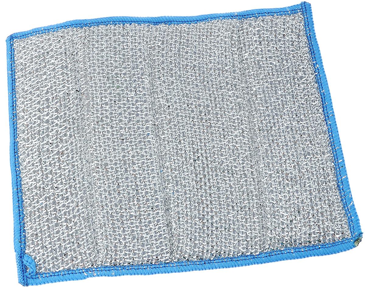 """Салфетка для стеклокерамики """"Хозяюшка Мила"""", цвет: голубой, белый, серебристый, 23 х 17 см"""