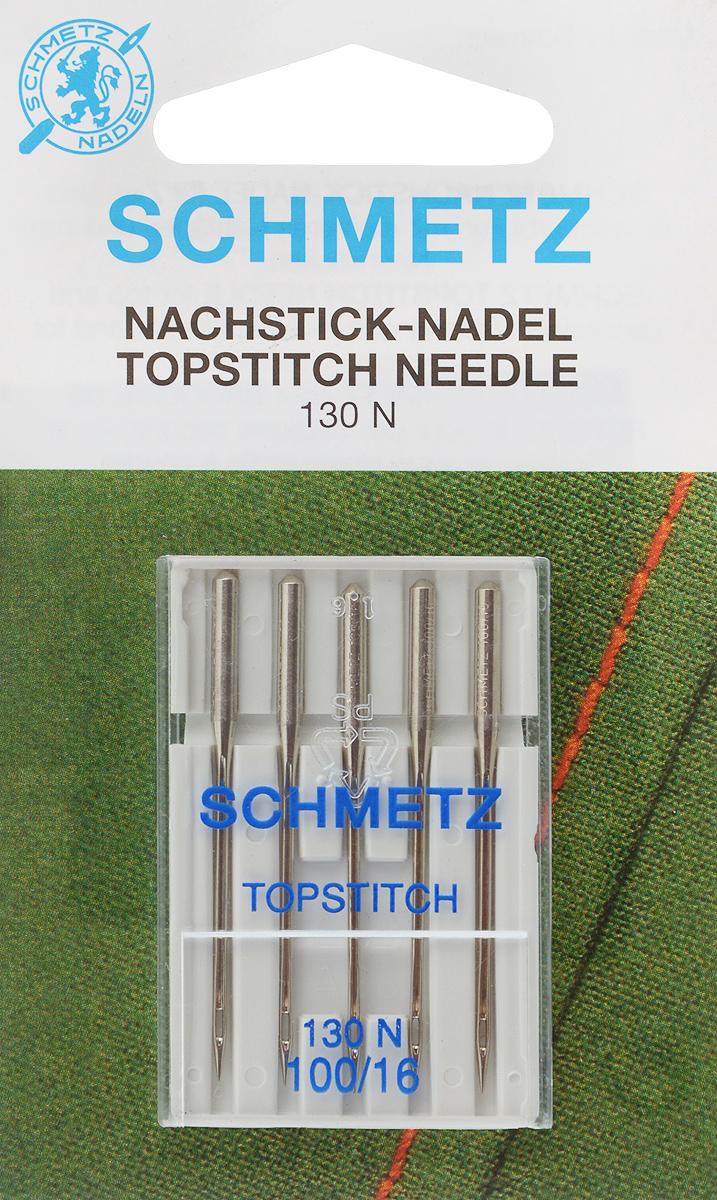 Иглы для бытовых швейных машин Schmetz, для декоративных строчек, №100, 5 шт08:90 2 VESСпециальные иглы Schmetz, выполненные из никеля, подходят для бытовых швейных машин всех марок. В набор входят иглы, которые идеально подходят для прокладывания декоративных строчек на легких, средних и тяжелых тканях. В комплекте пластиковый футляр для переноски и хранения. Система игл: 130 N. Номера игл: 100/16.