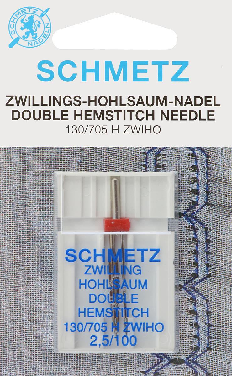 Игла для машинной вышивки Schmetz, для техники мережка, двойная, №100, 2,5 мм90:25.2.DESСпециальная двойная игла Schmetz, выполненная из никеля, подходит для бытовых вышивальных машин всех марок. Игла предназначена для выполнения вышивки в технике мережка. В комплекте пластиковый футляр для переноски и хранения. Система иглы: 130/705 H ZWIHO. Номер иглы: 100. Расстояние между иглами: 2,5 мм.