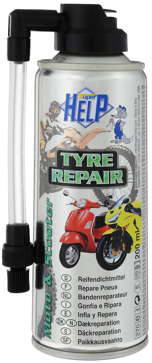 Средство для ремонта шин мотоцикла и скутера SuperHelp