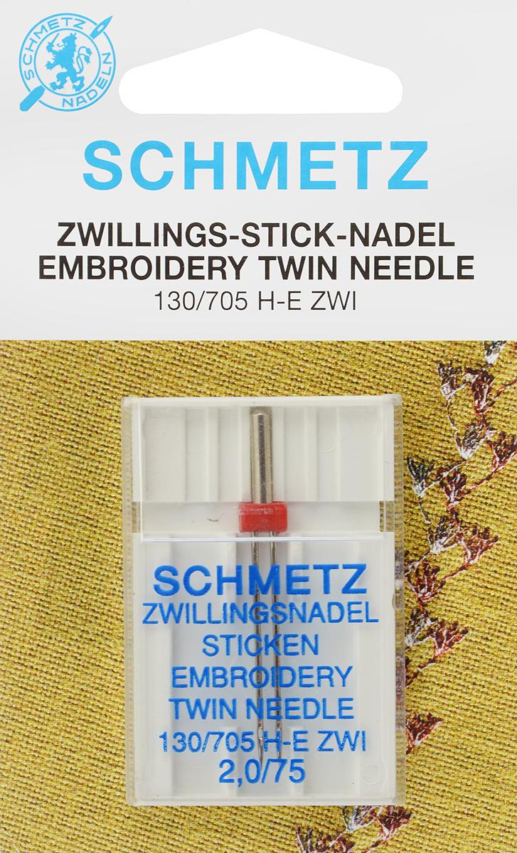 Игла для машинной вышивки Schmetz, двойная, №75, 2 мм72:20.EB2.SMSСпециальная игла Schmetz, выполненная из никеля, подходит для бытовых вышивальных машин всех марок. Игла предназначена для выполнения машинной вышивки. В комплекте пластиковый футляр для переноски и хранения. Система иглы: 130/705 H-E ZWI. Номер иглы: 75. Расстояние между иглами: 2 мм.