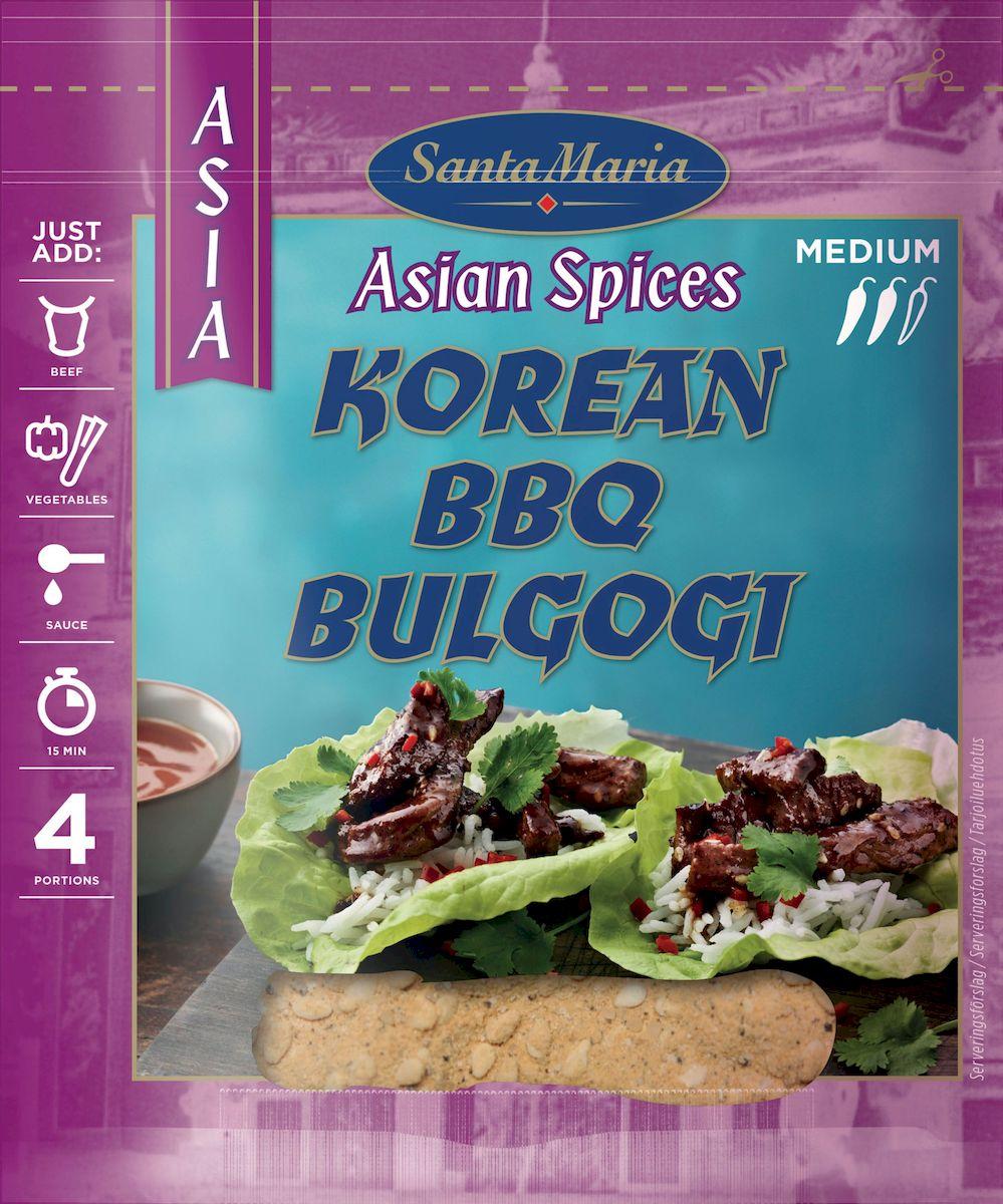 Santa Maria Смесь специй для барбекю по-корейски, 35 г17935Ароматная, слегка острая смесь приправ Santa Maria для приготовления блюд на гриле.