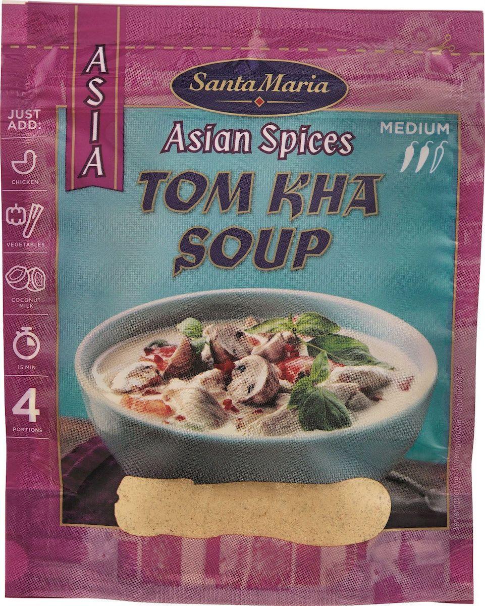 Santa Maria Суповая смесь Том Кха, 30 г17936Суп Том Кха является кулинарной изюминкой всего азиатского региона. Добавление кокосовых сливок к смеси специй придает ей бархатистую текстуру. Ингредиенты для супа могут меняться, но смесь Том Кха необходима в любом случае – это душа вашего супа.