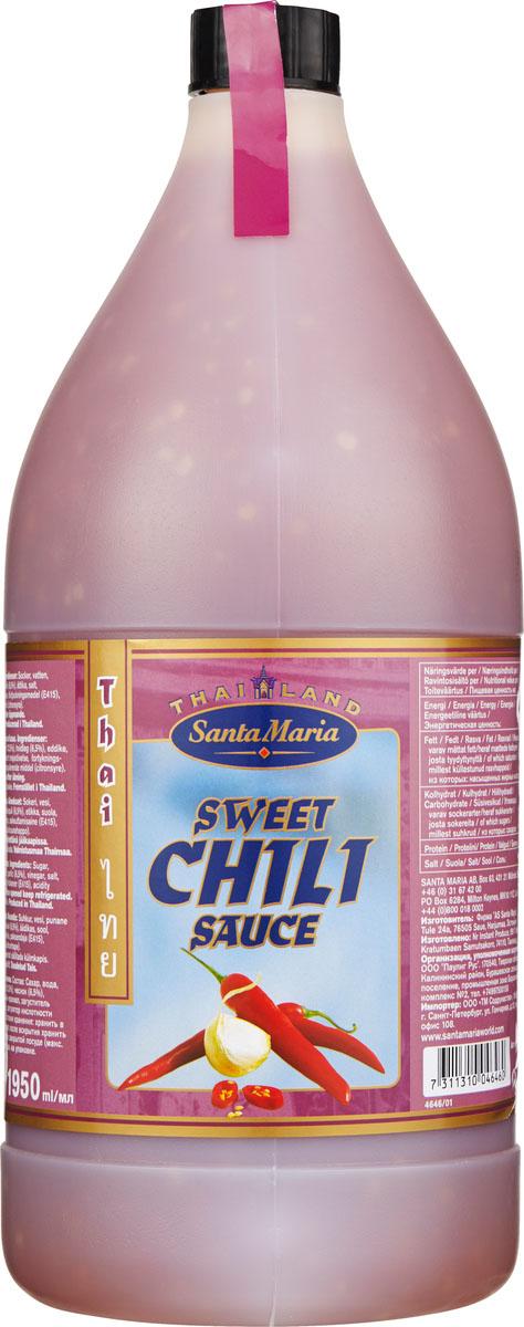 Santa Maria сладкий соус чили, 1,95 л4646Сладкий соус чили известен также под названием Азиатский кетчуп. Применяется для приготовления восточных тушеных блюд из мяса, рыбы, птицы, морепродуктов и овощей. Можно использовать как самостоятельный дип-соус.