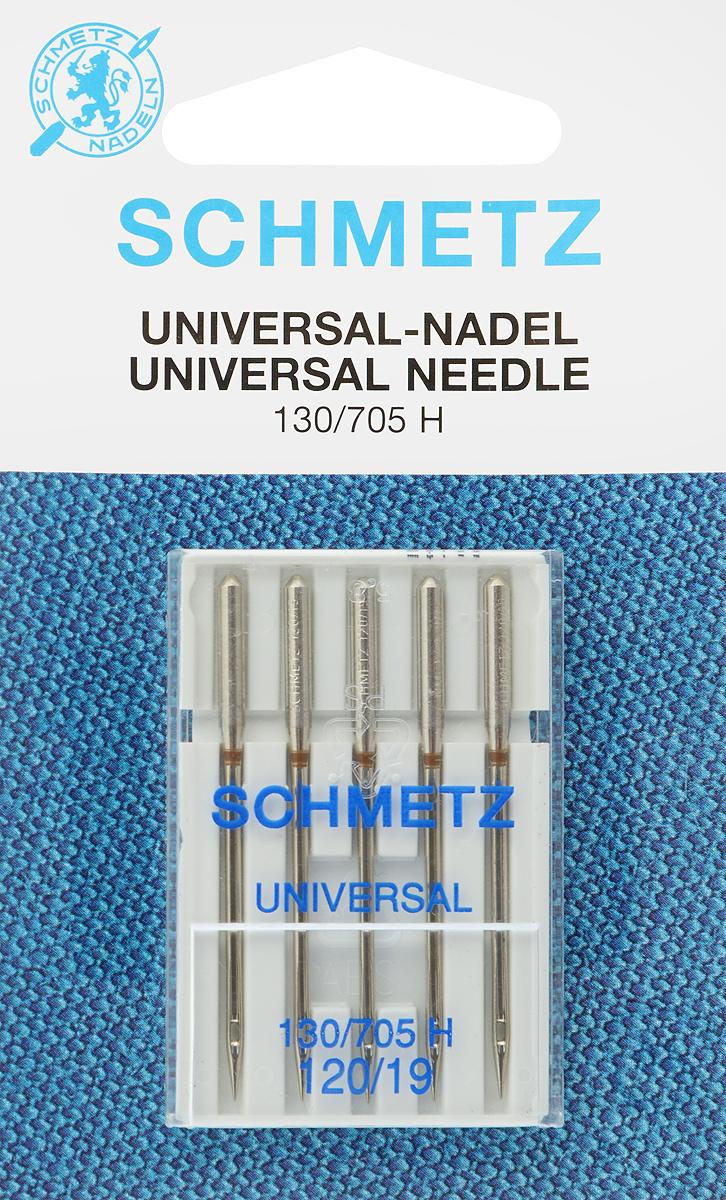 Иглы для бытовых швейных машин Schmetz, универсальные, №120, 5 шт22:15.2.VGSУниверсальные иглы Schmetz, выполненные из никеля, подходят для бытовых швейных машин всех марок. В набор входят универсальные иглы, которые идеально подходят для всех тканых материалов. Иглы имеют небольшой закругленный кончик, что делает их универсальными в использовании с различными видами тканей. Каждая игла имеет цветовой код. В комплекте пластиковый футляр для переноски и хранения. Система универсальных игл: 130/705 H. Номера игл: 60/8.