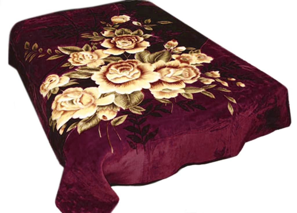 Плед Tamerlan, нестриженый, цвет: бордовый, 200 х 240 см. 6842296515412плотность 440 гр/м2