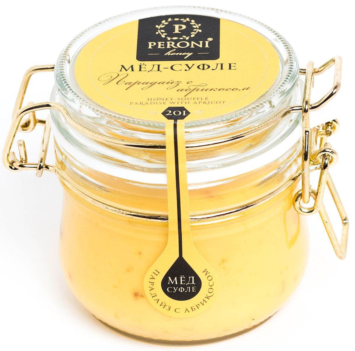 Peroni Парадайз с абрикосом мёд-суфле, 250 г201Мёд с сушеным абрикосом — не только вкуснейшая новинка в медовом мире, но и настоящий помощник здоровью и красоте. Мёд солнечного, молочно-абрикосового цвета. Аромат тонкий и выразительный, по характеру цветочно-сливочно-фруктовый. Основная нота принадлежит свежему абрикосу, фруктовому йогурту. В нежном медовом суфле встречаются маленькие кусочки кураги, которые создают абрикосовые акценты. Вкусовые характеристики мёда и абрикоса проявляются комплексно, они близки и идеально дополняют друг друга, создавая гармонию. Вкус мёда чрезвычайно динамичен: сливочная атака сменяется интенсивной цветочно-фруктовой волной, оставляя в завершение пряно-абрикосовый акцент. В целом вкус мёда-суфле освежающий и бодрящий. Обволакивающая сладость мёда уравновешивается бодрящей фруктовой свежестью. Создается ощущение легкости и прохлады. Для получения мёда-суфле используются специальные технологии. Мёд долго вымешивается при определенной скорости, после чего его...