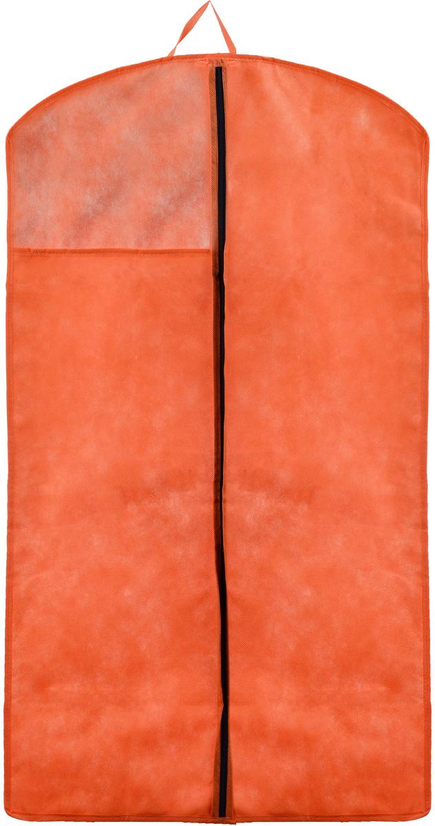 Чехол для верхней одежды Miolla, цвет: оранжевый, 100 х 60 смCHL-1-4Чехол для верхней одежды Miolla на застежке-молнии выполнен из высококачественного спанбонда (нетканого материала). Прозрачное полиэтиленовое окошко позволяет видеть содержимое чехла. Подходит для длительного хранения вещей. Чехол обеспечивает вашей одежде надежную защиту от влажности, повреждений и грязи при транспортировке, от запыления при хранении и проникновения моли. Чехол обладает водоотталкивающими свойствами, а также позволяет воздуху свободно поступать внутрь вещей, обеспечивая их кондиционирование. Это особенно важно при хранении кожаных и меховых изделий. Размер чехла: 100 х 60 см.