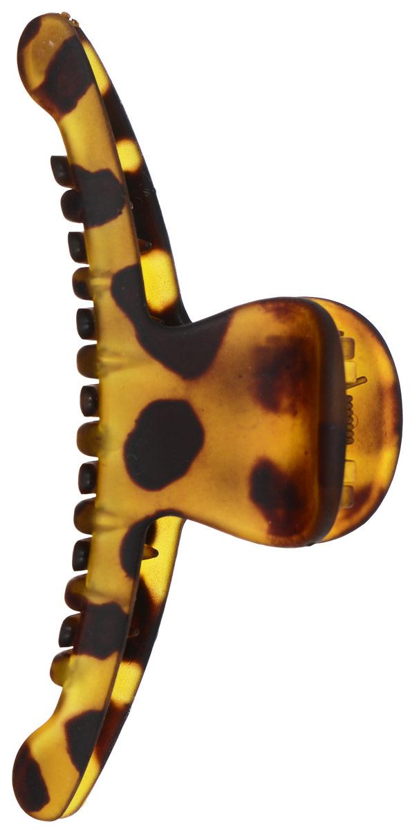Заколка-краб Mitya Veselkov, цвет: желтый, коричневый. KRAB2-M2GREKRAB2-M2GREОригинальная заколка-краб Mitya Veselkov изготовлена из качественного пластика . Удобный зажим заколки надежно фиксирует волосы и не травмирует их. С помощью заколки-краба можно создавать различные прически для неповторимого образа. Оригинальность и удобство заколки-краба для волос делают ее практичным и модным аксессуаром.