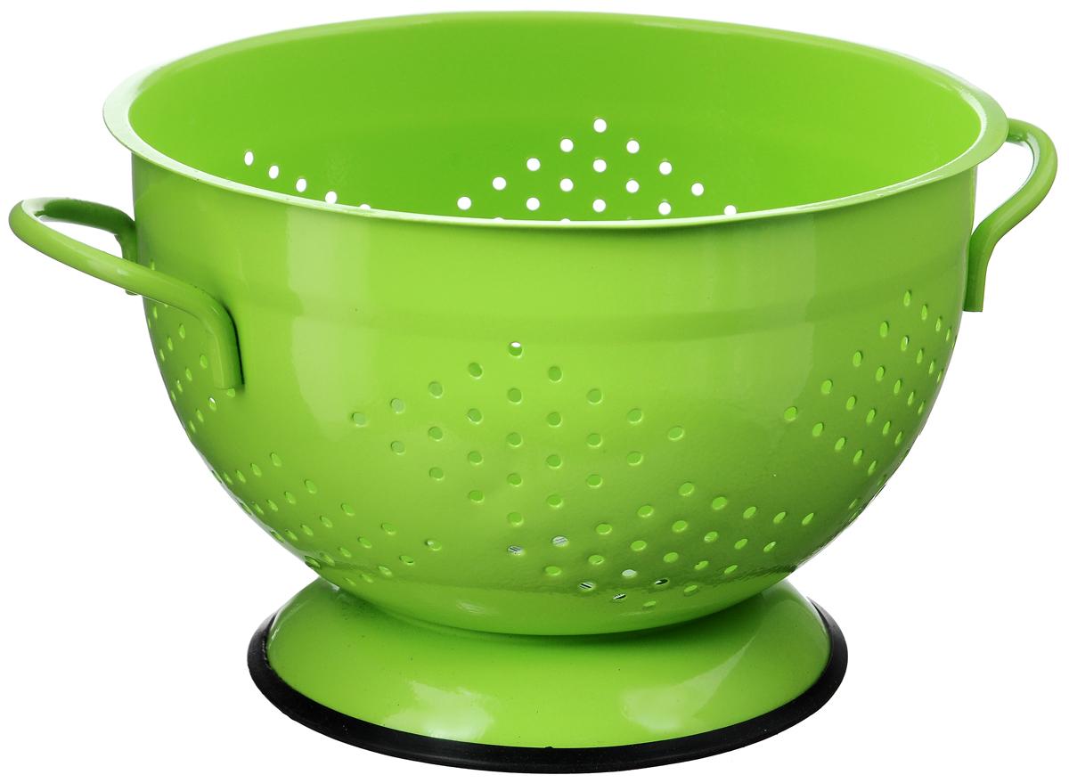 Дуршлаг Mayer & Boch, диаметр 25,5 см23529Дуршлаг Mayer&Boch, изготовленный из металла, станет полезным приобретением для вашей кухни. С внешней и внутренней стороны дуршлаг покрыт цветной эмалью. Он предназначен для отделения жидкости от твёрдых веществ, например, после варки макаронных изделий, круп, картофеля. Также дуршлаг используется для мытья и промывания ягод, грибов, мелких фруктов и овощей. Дуршлаг оснащен устойчивым основанием и удобными ручками по бокам. Диаметр дуршлага (по верхнему краю): 25,5 см Высота дуршлага: 16 см