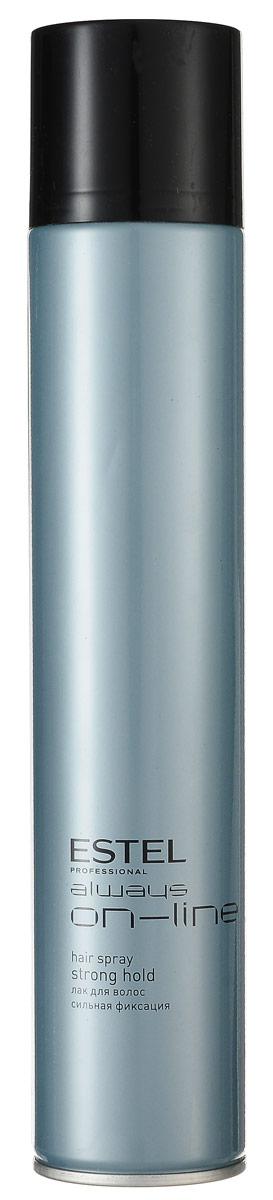 Estel Always On-Line Лак для волос сильная фиксация 400 млOL.12/400Estel Always On-Line Лак для волос сильная фиксация. Прекрасно подходит для ежедневной салонной практики. Удобен для создания конкурсных работ в технической номинации, особенно по длинным волосам. Текстура лака позволяет прорабатывать образ на различных стадиях его готовности, давая возможность внести изменения и дополнения в прическу. Лак обеспечивает хорошую фиксацию, придает естественный блеск.