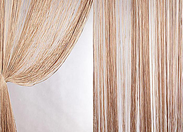 Штора нитяная Magnolia Кисея, цвет: коричневый, высота 300 см. XLF DS 1454629Декоративная нитяная штора для дизайнерских решений в вашем доме. Подходит как для зонирования пространства, а так же декорации окна, как самостоятельное решение или дополнение к шторам.