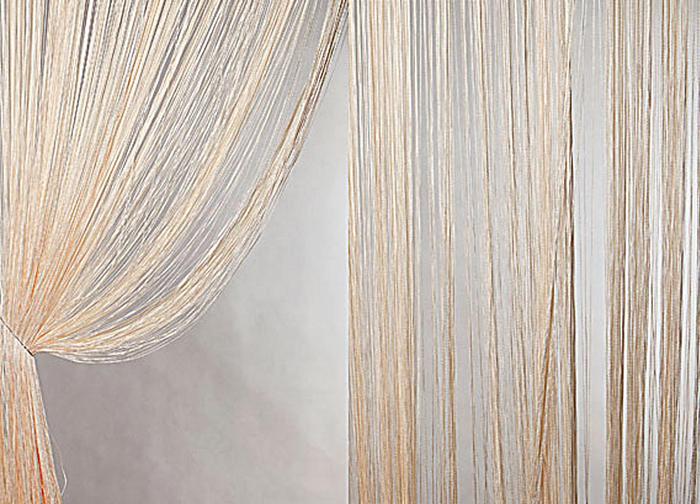 Штора нитяная Magnolia Кисея, цвет: светло-персиковый, высота 300 см54632Штора нитяная Magnolia Кисея, выполненная из 100% полиэстера, подходит как для зонирования пространства, так и для декорации окна, как самостоятельное решение или дополнение к шторам. Такая штора великолепно дополнит интерьер вашего дома и станет отличным дизайнерским решением.