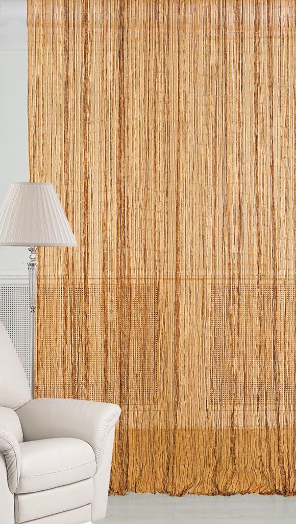 Штора нитяная Magnolia Кисея, цвет: золото, высота 300 см. XLF JW-9808-1668593Декоративная нитяная штора для дизайнерских решений в вашем доме. Подходит как для зонирования пространства, а так же декорации окна, как самостоятельное решение или дополнение к шторам.