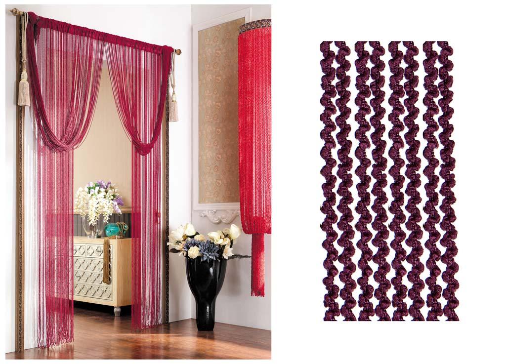 Штора нитяная Magnolia Кисея, цвет: бордовый, высота 290 см. CQ X055-20573634Декоративная нитяная штора для дизайнерских решений в вашем доме. Подходит как для зонирования пространства, а так же декорации окна, как самостоятельное решение или дополнение к шторам.