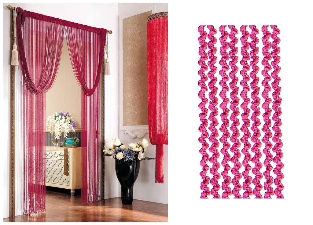 Штора нитяная Magnolia Кисея, цвет: малиновый, высота 290 см. CQ X055-2073636Декоративная нитяная штора для дизайнерских решений в вашем доме. Подходит как для зонирования пространства, а так же декорации окна, как самостоятельное решение или дополнение к шторам.