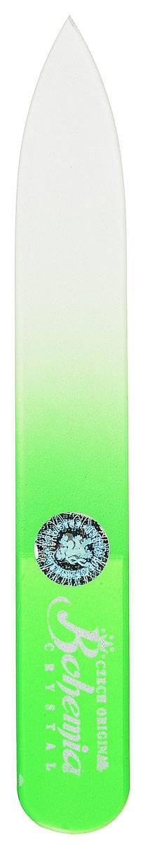 Пилочка для ногтей Bohemia, стеклянная, цвет: салатовый233cz-0902вм_салатовый
