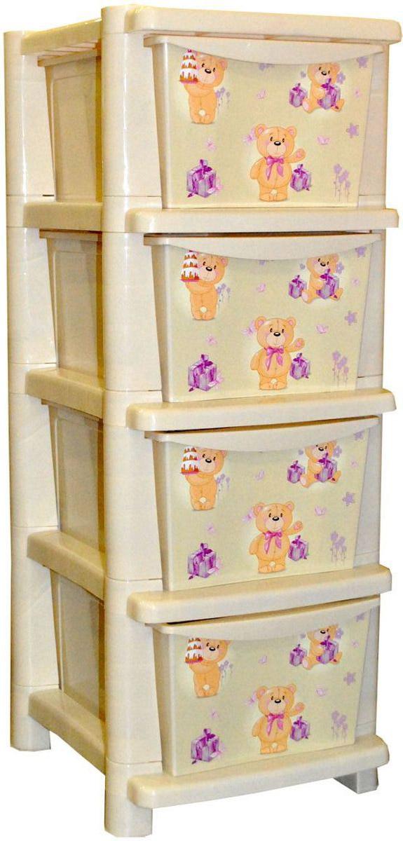 Little Angel Детский комод Мишки с тортиками 4 ящикаLA4704IR_мишка с тортикамиВместительный, современный и удобный дизайн комода идеально подойдет для детской комнаты. Сглаженные углы и облегченная конструкция комода безопасны даже для самых активных малышей. Спокойные пастельные цвета комода станут прекрасным дополнением для детской комнаты.