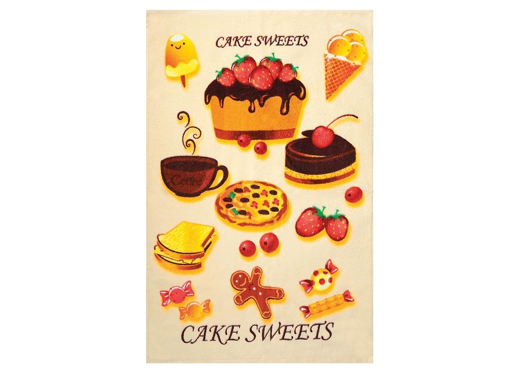 Полотенце Soavita Cake, 45х70 см, цвет: бежевый87420Перед использованием постирать при температуре не выше 40 градусов