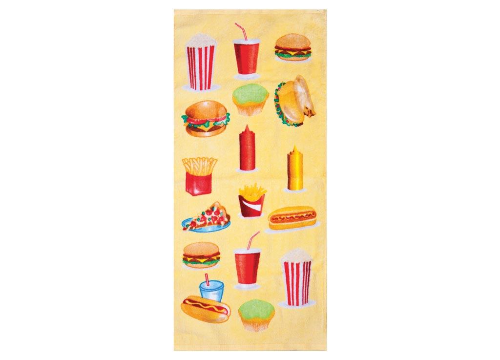 Полотенце кухонное Soavita Фаст-фуд, 34 х 76 см531-401Кухонное полотенце Soavita Фаст-фуд выполнено из 100% хлопка и оформлено оригинальным рисунком. Оно отлично впитывает влагу, быстро сохнет, сохраняет яркость цвета и не теряет форму даже после многократных стирок. Изделие предназначено для использования на кухне и в столовой.Такое полотенце станет отличным вариантом для практичной и современной хозяйки.