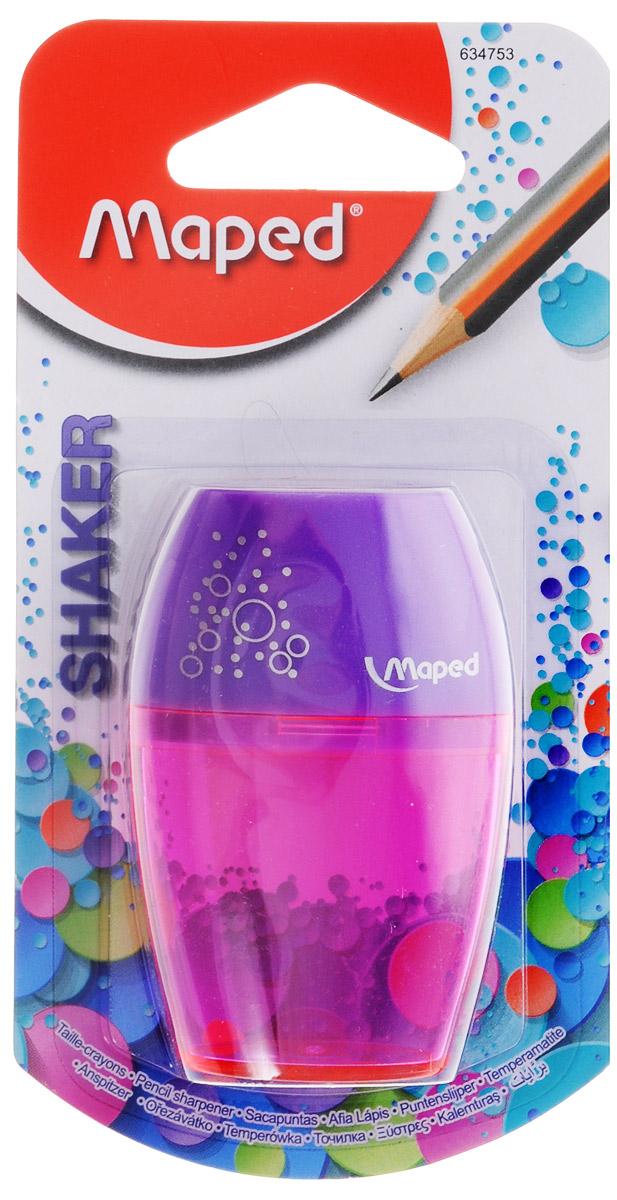 Maped Точилка Шейкер с контейнером цвет сиреневый розовый 6347530_сиреневый, розовый