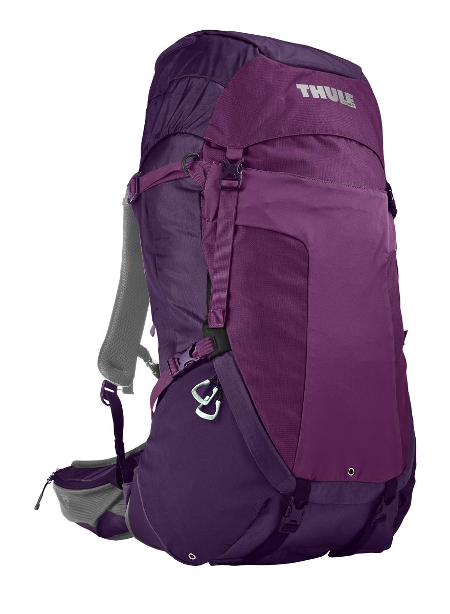 Рюкзак туристический женский Thule Capstone, цвет: фиолетовый, 50 л800802Женский рюкзак Thule Capstone с объемом 50 л идеален для однодневного пешего похода или непродолжительного похода легкого уровня.Имеет полностью регулируемую подвеску, воздухопроницаемую заднюю панель и вшитый дождевой чехол.Система крепления MicroAdjust позволяет отрегулировать ремень для торса на 10 см при надетом рюкзаке, чтобы добиться идеальной посадки.Сеточная задняя панель натягивается, обеспечивая превосходную воздухопроницаемость и позволяя вам не потеть и оставаться сухим в пути.Яркая съемная накидка от дождя обеспечивает сухость ваших принадлежностей во время ливнейРегулируемый поясной ремень совместим со взаимозаменяемыми аксессуарами VersaClick (продаются отдельно).С помощью держателя палок VersaClick, входящего в комплект поставки, можно удобно закрепить треккинговые палки на поясном ремне, не снимая рюкзак.Небольшие принадлежности можно хранить в карманах на молнии в верхнем клапане и в поясном ремне.Доступ к содержимому сверху, снизу и сбоку упрощает загрузку и разгрузку рюкзака и позволяет легко найти нужную вещь во время пути.Эластичный карман Shove-it Pocket обеспечивает быстрый доступ к часто используемым предметамМожно легко переместить снаряжение в переднюю часть рюкзака с помощью ремешка, продетого сквозь прочную петлю.Задние крепления для треккинговых палок и ледоруба можно убрать, если они не используются.