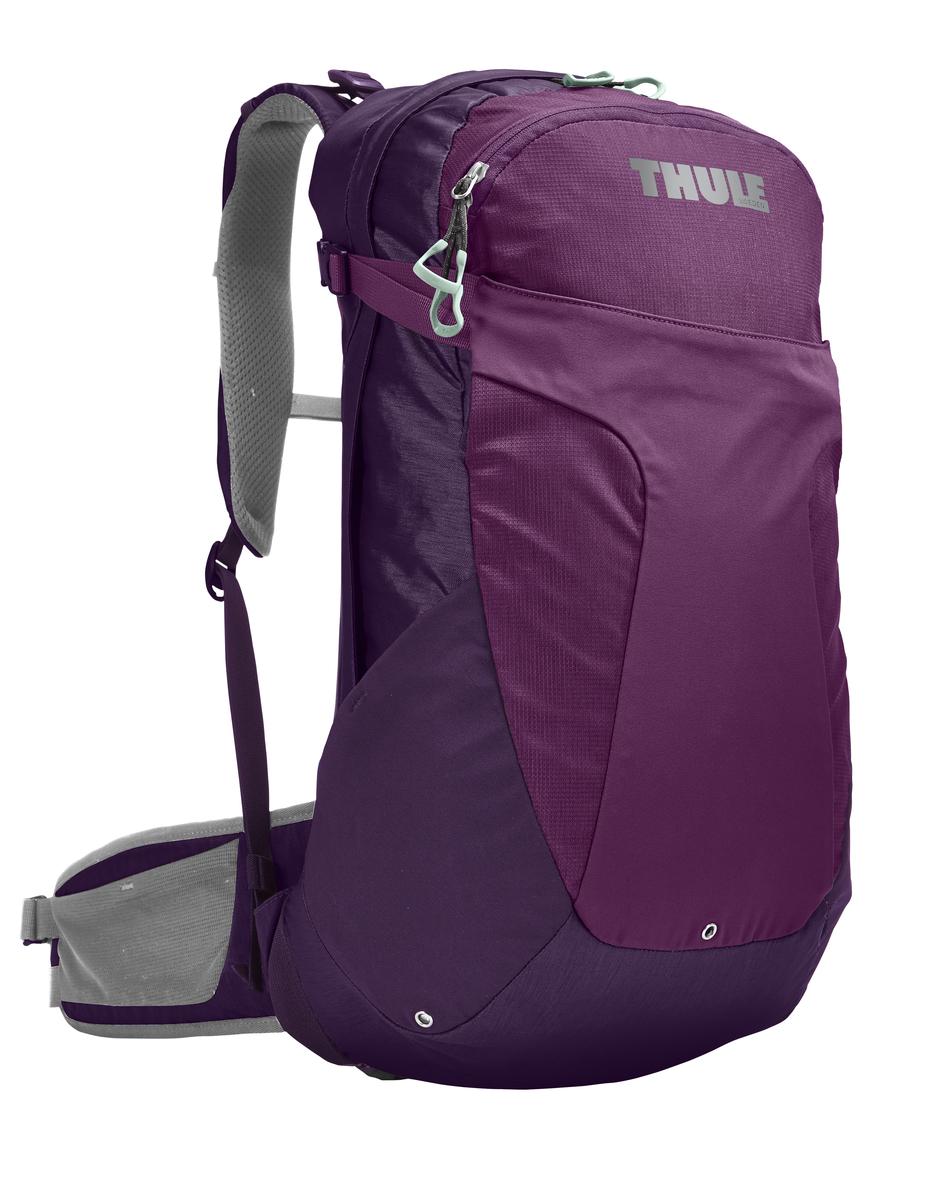 Рюкзак женский Thule Capstone, цвет: фиолетовый, сиреневый, серый, 22 л. Размер S/M207503Женский рюкзак Thule Capstone идеально подходит для однодневных путешествий или коротких походов. Рюкзак снабжен яркой накидкой от дождя и системой крепления MicroAdjust, которая обеспечивает максимальную регулировку для идеальной посадки. Сзади расположена натягиваемая сеточная панель для максимальной воздухопроницаемости. Рюкзак оснащен 1 вместительным отделением на застежке-молнии. Спереди имеется 2 кармана, один из которых на застежке-молнии. По бокам расположено 2 эластичных кармана. На набедренном ремне имеется 2 небольших кармана.