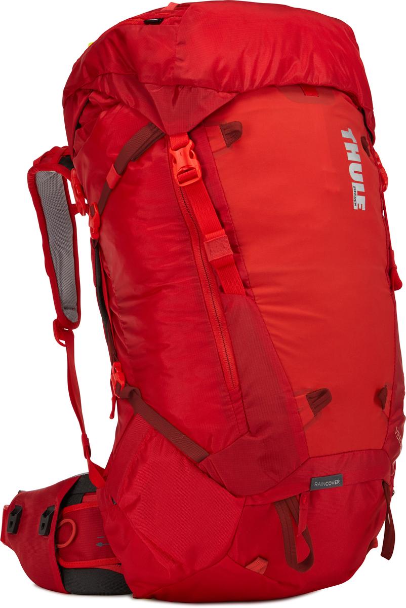 Рюкзак женский Thule Versant, цвет: красный, 50 лa026124Женский туристический рюкзак Thule Versant с объемом 50 л - легкий рюкзак, который обеспечивают необходимую вместительность, порядок и удобный доступ к снаряжению для походов с ночевкой. Легко регулируется для идеальной посадки: по спине в пределах 12 см, поясной ремень - в диапазоне 10 см. Съемный водонепроницаемый сворачивающийся карман VersaClick защищает снаряжение от непогоды. Регулируемый поясной ремень совместим со взаимозаменяемыми аксессуарами VersaClick (продаются отдельно). Система StormGuard - это комбинация частичного дождевого чехла с водонепроницаемым нижним слоем для создания полностью защищенного от непогоды рюкзака. Конструкция StormGuard обеспечивает удобный доступ к снаряжению, препятствует проникновению влаги и более надежна, чем обычный дождевой чехол Удобный доступ к боковым карманам даже при надетом дождевом чехле. Верхняя крышка трансформируется в рюкзак с одной лямкой для горных прогулок. Большая панель с подковообразной молнией обеспечивает удобный доступ. Две петли-крепления для треккинговых палок или ледорубов Передний карман Shove-it Pocket для быстрого доступа.
