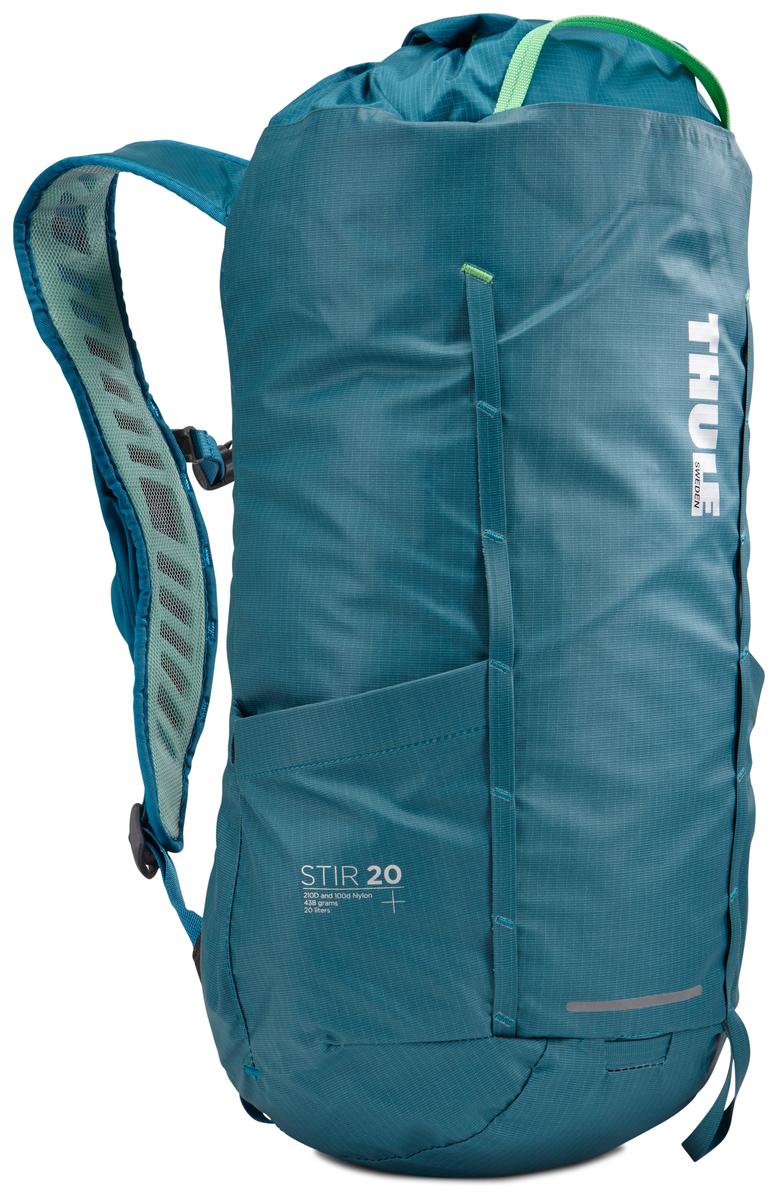 Рюкзак Thule Stir 20L, цвет: бирюзовый, 20 л800802Рюкзак для пеших путешествий Thule Stir с объемом 20 л и легкодоступными карманами и идеальными для поездок или передвижения по городу отделениями. Легкодоступная крышка с защитным откидным клапаном. Съемный нагрудный ремень и поясной ремень, который можно спрятать за задней панелью при передвижении по городу. Эластичный карман на плечевом ремне для хранения телефона и других небольших предметов. Точка крепления петли для фонаря и светоотражающий материал. Внутренний сетчатый карман для удобного хранения. Передний карман Shove-it Pocket для быстрого доступа. Воздухопроницаемые задняя панель и наплечные ремни обеспечивают вентиляцию. Конструкция, предназначенная для хранения воды, включает карман для емкости с водой, отверстие для трубки и два боковых кармана для бутылок с водой (бутылки продаются отдельно).