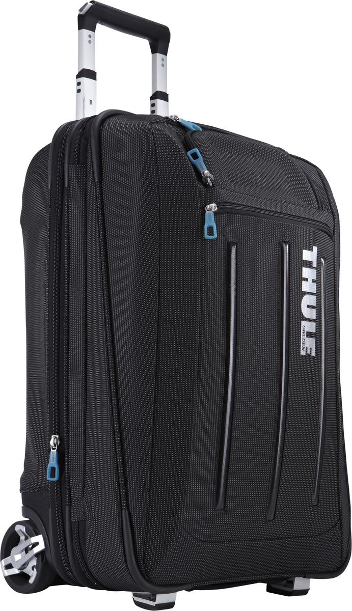 Чемодан на колесиках Thule Crossover с чехлом-органайзером для костюма, цвет: черный, 45л3201742Чемодан на колесах Thule Crossover (58 см в вертикальном положении) - Для любого человека, проводящего много времени в бизнес-поездках, эта сумка на колесиках обеспечит максимальное удобство и вместит все необходимое оборудование. Съемный тройной небольшой чемодан и дополнительная сумка обеспечивают удобное расположение необходимых вещей, а прочные колеса и ручки гарантируют безопасную транспортировку. Изготовленное по технологии горячей прессовки ударопрочное отделение SafeZone защитит ваши очки, портативную электронику и другие хрупкие вещи (отделение запирается и может быть удалено для освобождения дополнительного места) Съемный тройной небольшой чемодан предоставит любителям бизнес-путешествий пространство для удобного хранения костюмов и предотвратит их сминание Специальный замок-молния расширяет основное отделение на 5 см для укладки дополнительного багажа Объемное внутреннее пространство поделено на отделы, а фиксирующий ремень надежно удерживает вещи на месте...