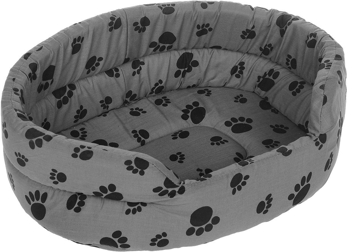 Лежак для животных Каскад Лапки. №1, 40 х 29 х 13 см0120710Мягкий лежак для животных Каскад Лапки. №1 обязательно понравится вашему питомцу. Он выполнен из высококачественного хлопка, а наполнитель - из поролона. Такой материал не теряет своей формы долгое время. Борта обеспечат вашему любимцу уют. Лежак Каскад Лапки. №1 станет излюбленным местом вашего питомца, подарит ему спокойный и комфортный сон, а также убережет вашу мебель от многочисленной шерсти.