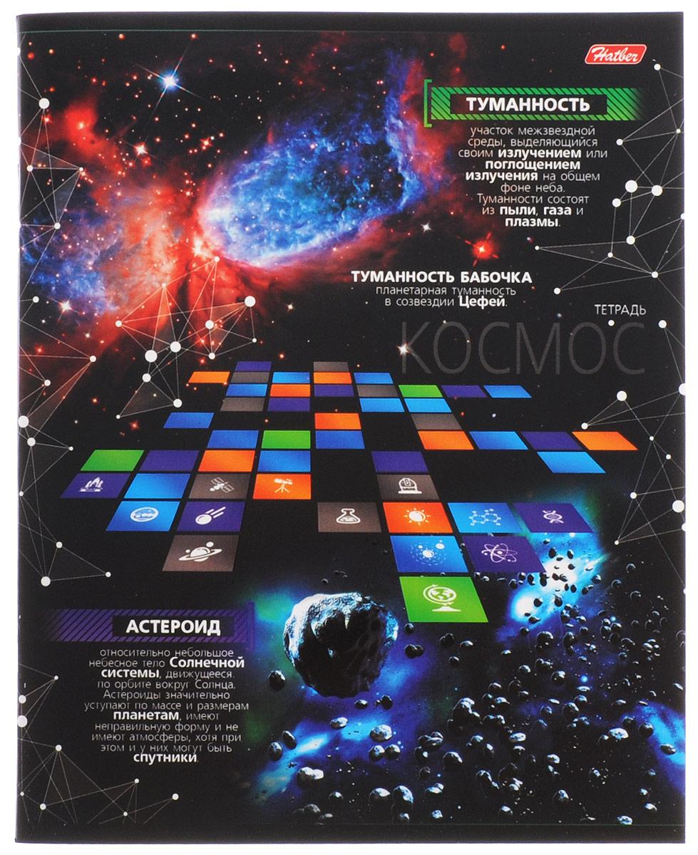 Hatber Тетрадь Космос 48 листов в клетку 48Т5вмВ1_1498672523WDТетрадь Hatber Космос отлично подойдет для занятий школьнику, студенту, а также для различных записей.Обложка, выполненная из плотного картона, позволит сохранить тетрадь в аккуратном состоянии на протяжении всего времени использования. Обложка оформлена изображением различных астрономических объектов и дополнена полезной информацией о некоторых из них. Внутренний блок тетради, соединенный двумя металлическими скрепками, состоит из 48 листов белой бумаги. Стандартная линовка в клетку голубого цвета дополнена полями, совпадающими с лицевой и оборотной стороны листа. В верхнем углу каждой странички находится разделенное точками место для даты, в нижнем - пустые квадратики для номеров страниц.