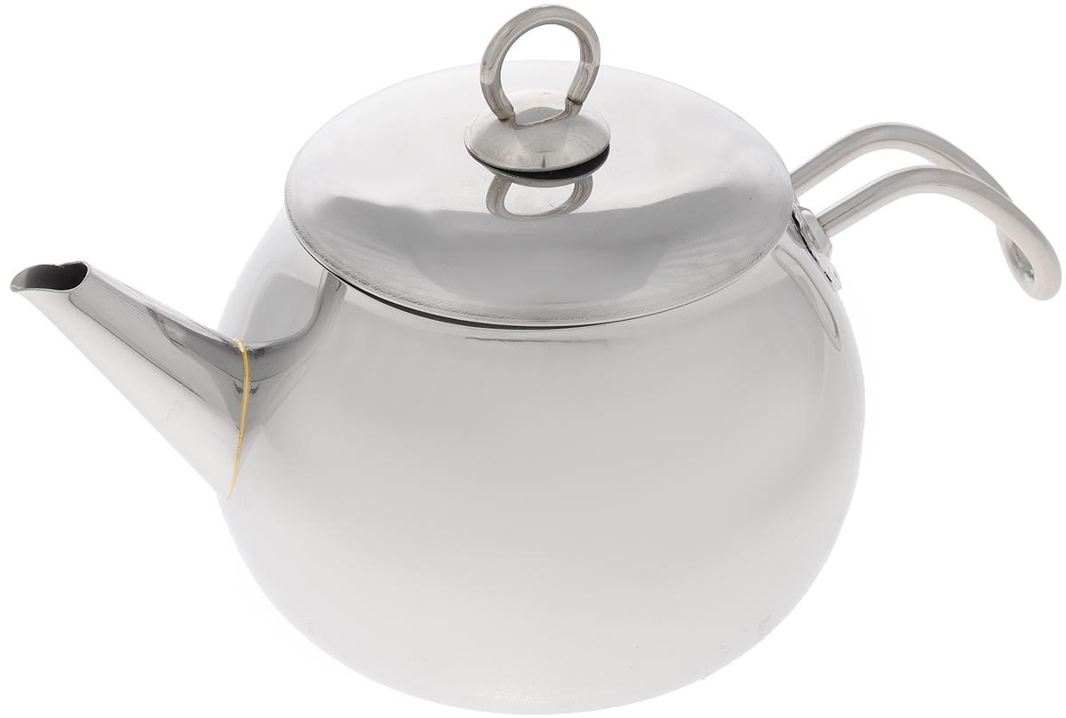 Чайник МИКА Стандарт, 1,8 лмк18Чайник МИКА Стандарт изготовлен из высококачественной нержавеющей стали и оснащен удобной фиксированной ручкой. Эстетичный и функциональный, с эксклюзивным дизайном, чайник будет оригинально смотреться в любом интерьере. Подходит для всех типов плит, включая индукционные. Можно мыть в посудомоечной машине. Высота чайника (без учета ручки и крышки): 11 см. Высота чайника (с учетом ручки и крышки): 17 см. Диаметр чайника (по верхнему краю): 12 см.