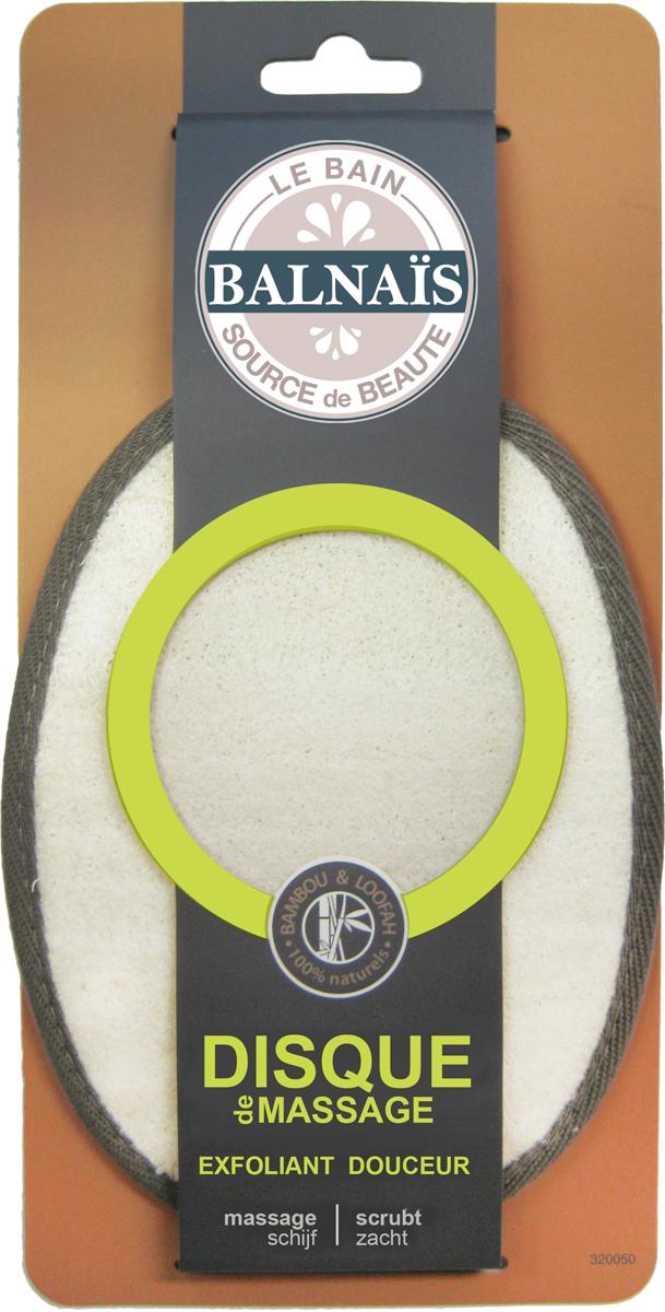 Balnais Массажный диск из бамбука и люфы для пилинга тела1103_фиолетовыйКачественные волокна бамбука и люфы Бальнэ обеспечивают: комфортное мытье без раздражений кожи; комфортное отшелушивание без покраснений кожи; комфортный лимфодренажный массаж; стимулирует кровообращение; улучшает энергетический баланс кожи. Подходит людям с проблемной кожей.
