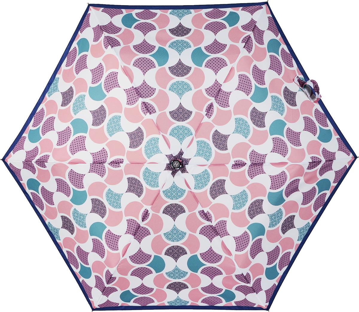Зонт женский Henry Backer, 3 сложения, цвет: розовый. U32203 Good mood45100948B/32793/5900NСуперлегкий женский зонт «Хорошее настроение», механикаРучка выполнена из нескользящего материала, ветроустойчивый каркас – из алюминия и фибергласса.