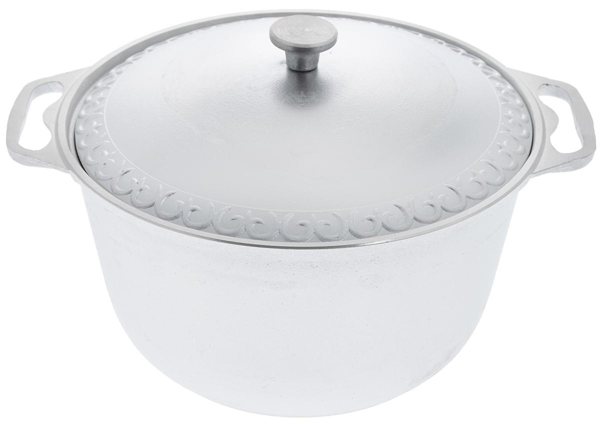 Кастрюля Катюша с крышкой, 8 лCM000001326Кастрюля Катюша, выполненная из литого алюминия, позволит вам приготовить вкуснейшие блюда. Обычно такие кастрюли используют для варки каш либо овощей. Благодаря хорошей теплопроводности алюминия, молоко или вода закипают в них быстрее, чем в эмалированных кастрюлях.Данная кастрюля отличается долговечностью и легкостью. Подходит для всех видов плит, кроме индукционных. Не рекомендуется мыть в посудомоечной машине. Высота стенки: 16,5 см. Ширина кастрюли (с учетом ручек): 37,5 см. Диаметр кастрюли (по верхнему краю): 30 см. Диаметр основания: 21,5 см.