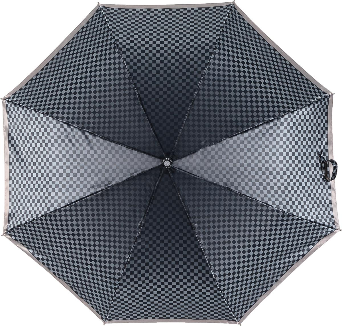 Зонт женский Henry Backer, 3 сложения, цвет: серый. U23201 Jacquarette8L035081M/35449/2900NСтильный женский зонт «Жаккард» с сатиновым куполом, автомат У зонта комфортная для ладони рукоять из нескользящего материала с насечками под пальцы, чтобы зонт было удобно удерживать при порывах ветра.